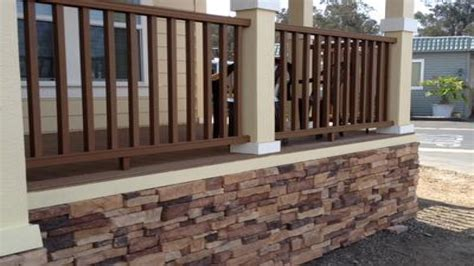 Kitchen Makeovers Ideas Front Deck Designs Mobile Home Skirting Stone Look Diy