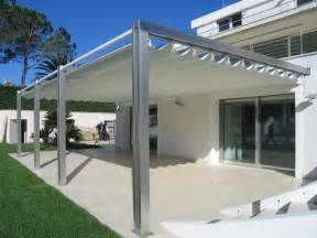 Retractable Patio Canopy Pergotenda Patio Awnings With Retractable Roofs By