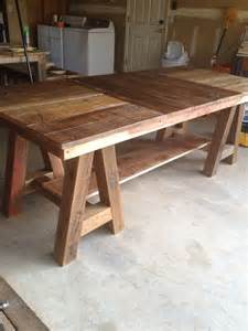 Barnwood Kitchen Table 1000 Ideas About Saw Horses On Workbenches Sawhorse Plans And Folding Sawhorse