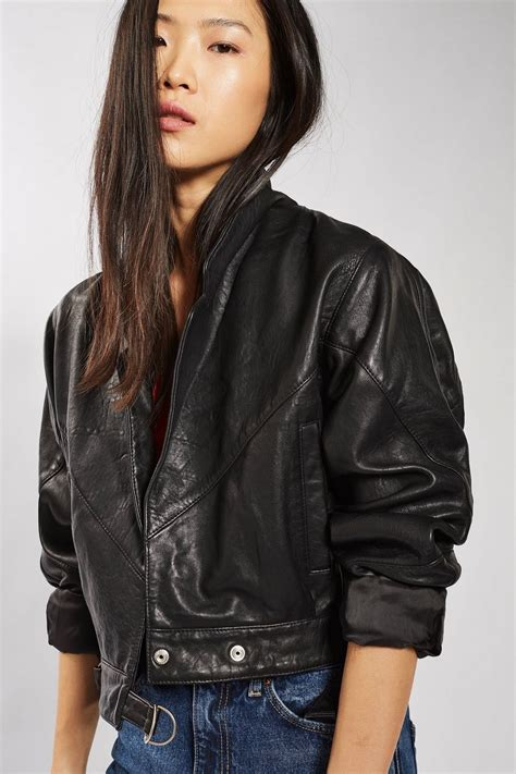 Cropped Jacket cropped leather jacket topshop