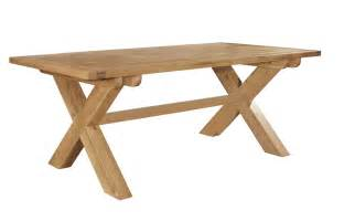 Crossed Leg Dining Table Chiltern Grand Oak Fixed Top Cross Leg Dining Table