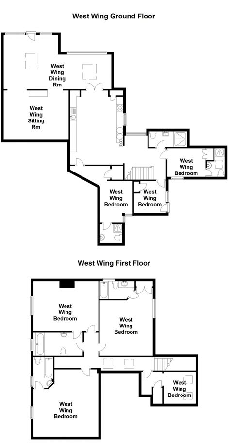 west wing floor plan floor plan the west wing sedgeford hall