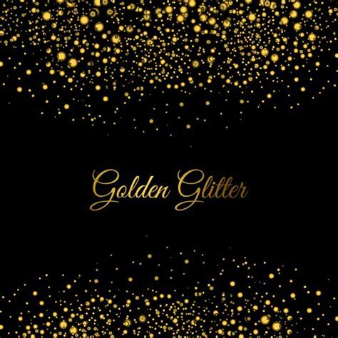 Golden glitters background Vector   Free Download
