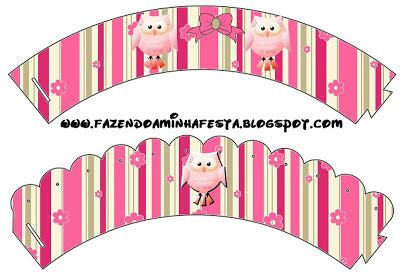 free printable owl cupcake wrappers pink owls free party printables is it for parties is