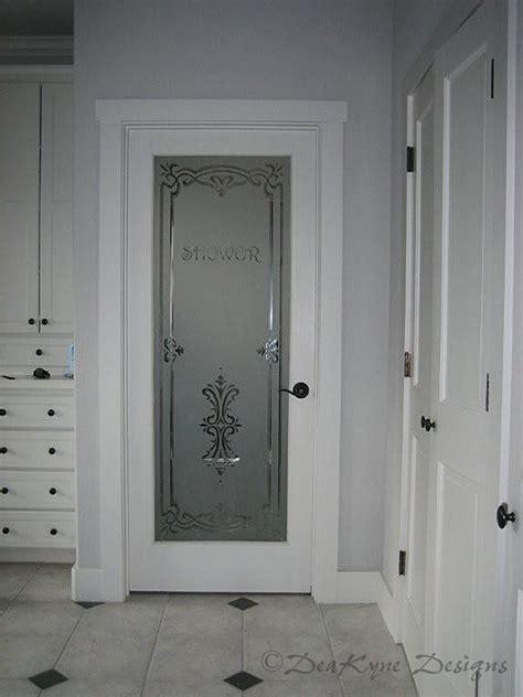 Door Etching by Bathroom Shower Door