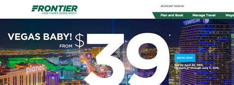 cheap flights to vegas with frontier deals we like