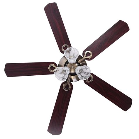yescom 52 quot 5 blades ceiling fan with light kit antique