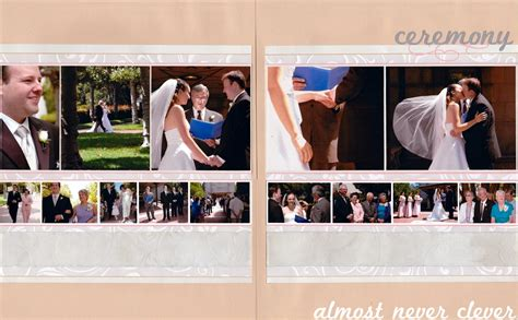 layout wedding ceremony wedding ceremony scrapbook almost never clever