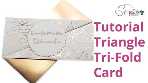 carding tutorial german tutorial triangle tri fold card deutsch youtube