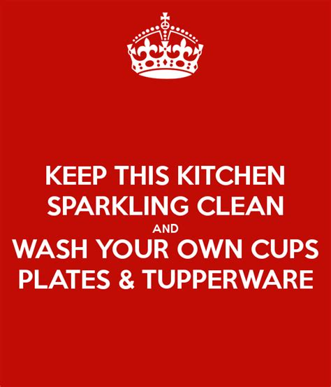 keep kitchen clean keep this kitchen sparkling clean and wash your own cups
