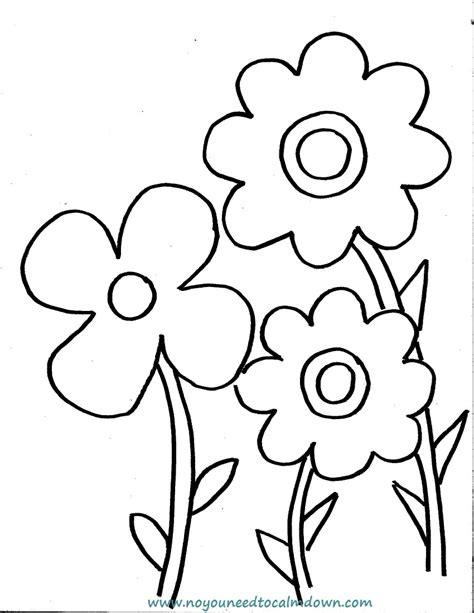 colors free printables no you need to calm down spring flowers coloring page for kids free printable
