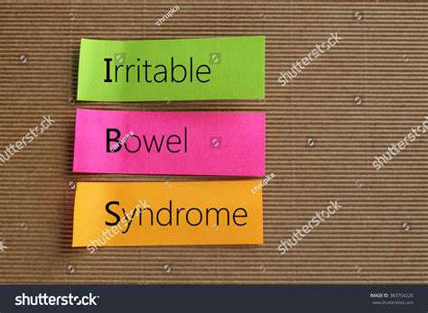 Ibs Sticky Stool by Irritable Bowel Text On Colorful Stock Photo