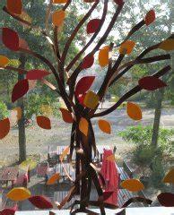 Herbst Baum Fenster mit papierstreifen basteln im kidsweb de