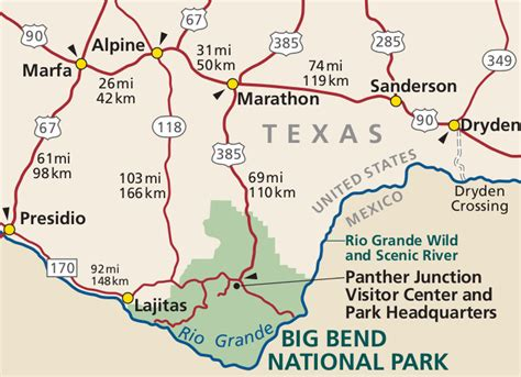 map of big bend texas big bend national park map map3