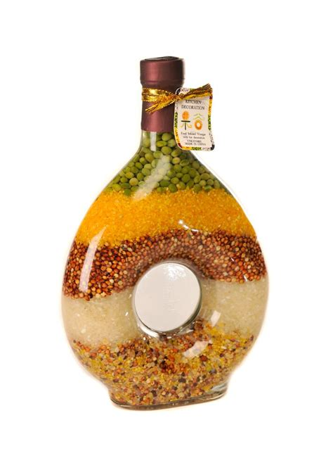 decorative vegetables in bottles 25cm oval shape kitchen glass bottle decoration fruit