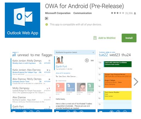 owa mobile outlook web apps for android and ios devices will be