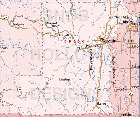 Benton County Records Benton County Oregon Map Oregon Map