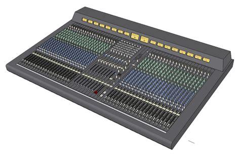 console audio yamaha pm4000 foh audio consoles 3d model formfonts 3d