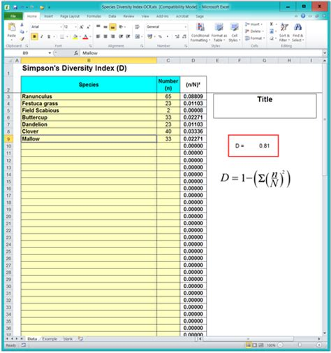 Ocr To Spreadsheet by 4 2 1 Species Diversity Index Ocr A Spreadsheet Help