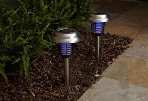 set of 2 solar insect bug zapper lights sharper image