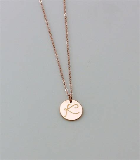 personalized circle necklace gold initial necklace