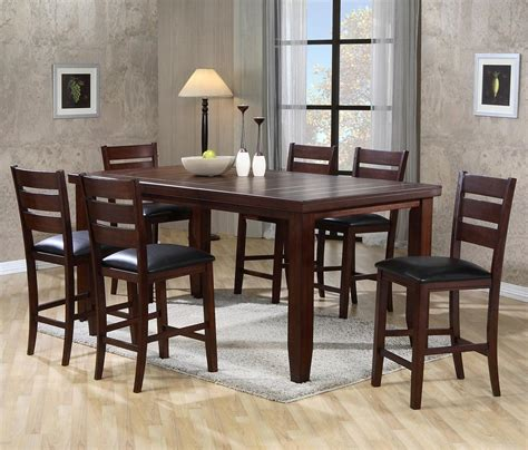 rectangular counter height table and chairs crown bardstown rectangular counter height table set
