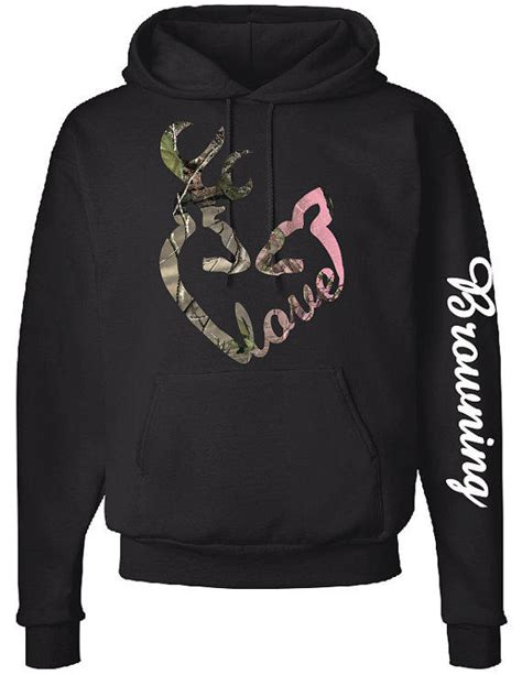 design hoodie sleeves love logo hoodie browning down sleeve from