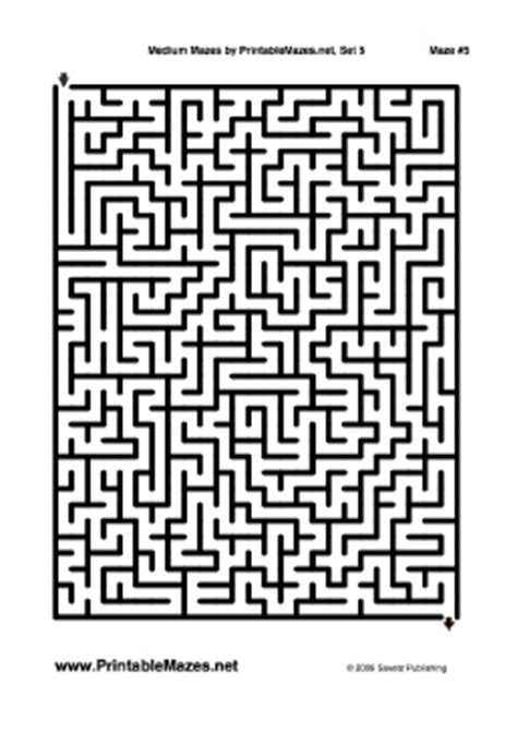 printable mazes intermediate medium mazes set 5 quot run of the mill quot
