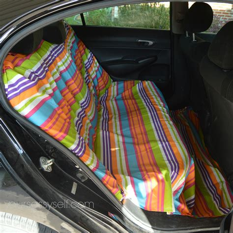 diy small car seat no sew diy backseat cover to keep your car so fresh and so
