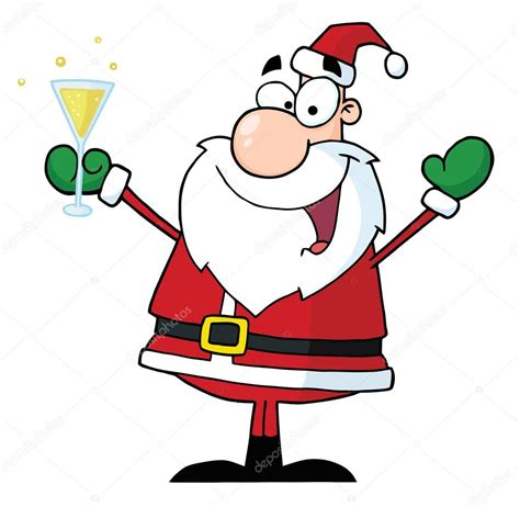christmas glass clip art santa drinking wine clipart 17