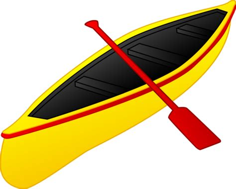 canoe boat clipart yellow and red canoe free clip art