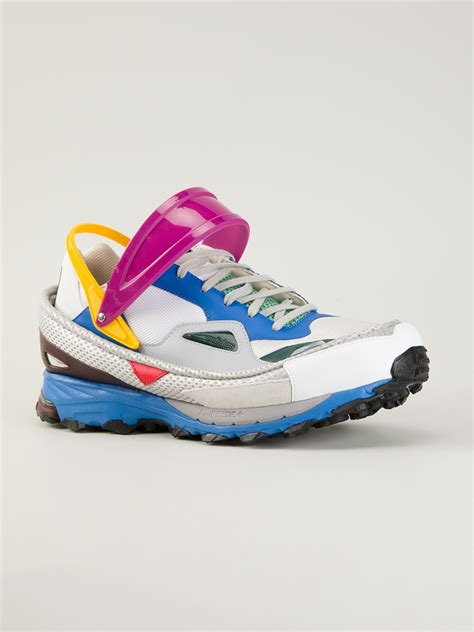 raf simons adidas sneakers adidas by raf simons colour block sneakers for lyst