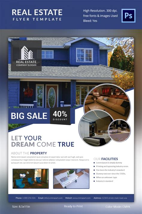 best real estate flyer templates real estate flyer template 37 free psd ai vector eps