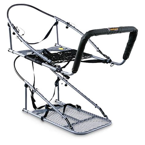 old man climbing deer stands ol multi vision pro aluminum climber stand 283339 climbing tree stands at sportsman s
