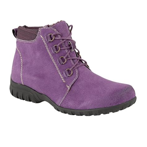 lotus santana purple suede ankle boots shoes from lotus