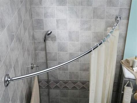 corner bathtub shower curtain rod curved shower curtain rods for corner showers curtain