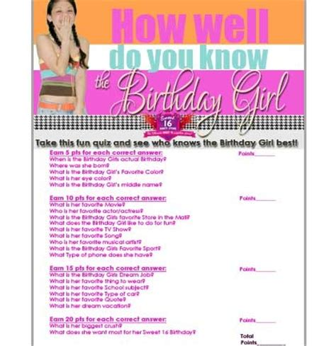 sweet themed quiz free sweet 16 birthday girl quiz sweet 16 party store