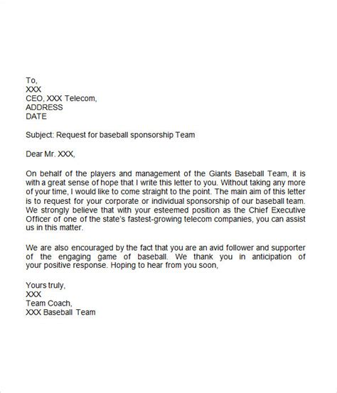 sports sponsorship letter docoments ojazlink