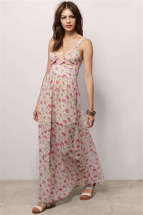 Maxi Flowery trendy light blue floral maxi dress floral print dress