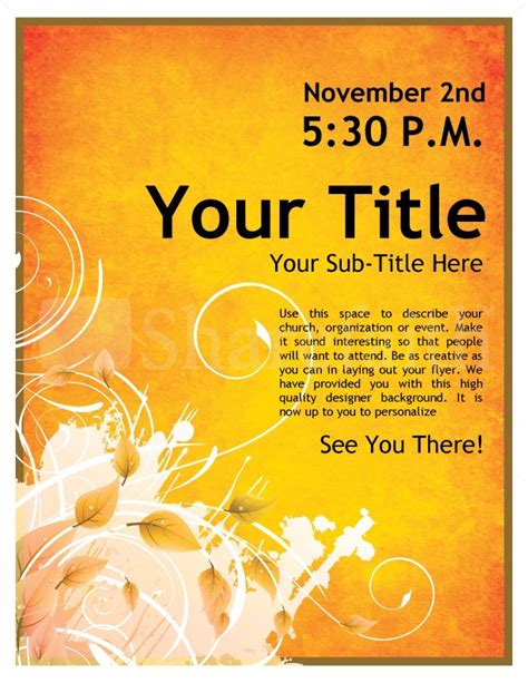 Youth Events Church Flyer Template Flyer Templates Template For Church Flyer