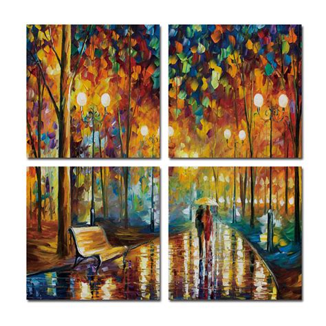modern framed wall walking couples canvas printings for living room wall