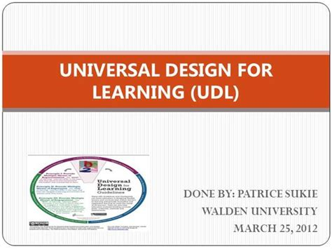 universal design for learning powerpoint presentation universal design for learning udl authorstream