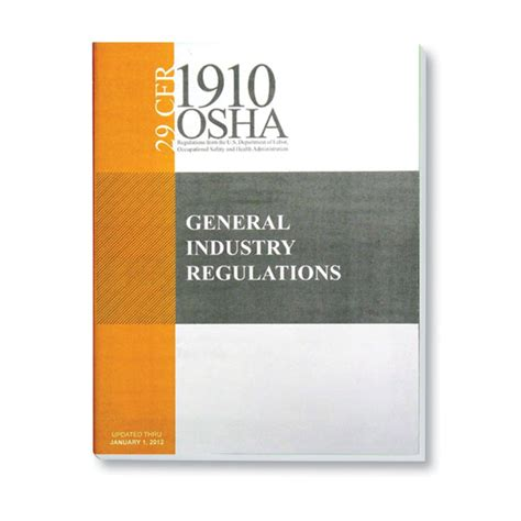 prevention and osha compliance books osha 1910 general regulations book