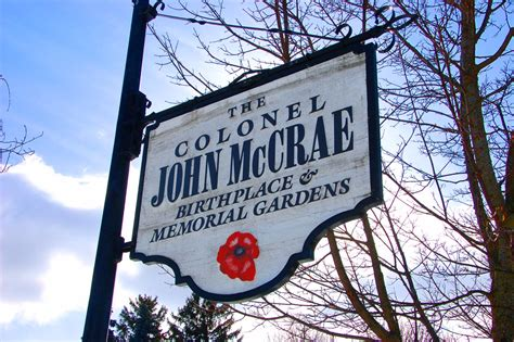 john mccrae house sign canadian roadstories