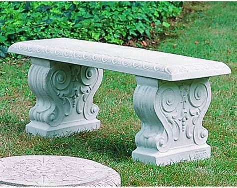 cast stone benches garden cania international traditional straight cast stone