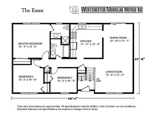 ranch style home floor plans with basement westchester modular homes essex ranch description this