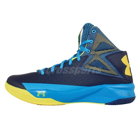 armour blue basketball shoes armour ua rocket blue navy yellow mens basketball