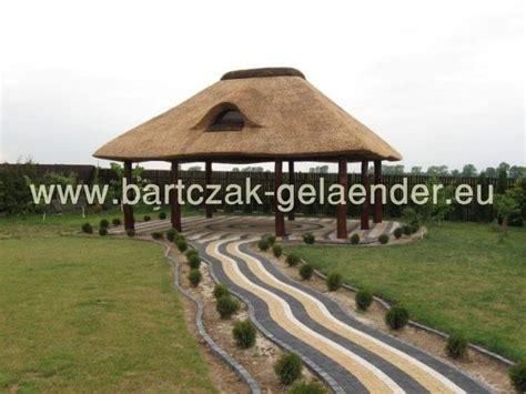 strohdach pavillon pavillon mit festem dach holz garten reetdach wetterfest