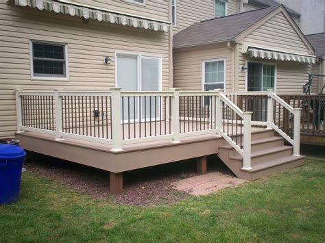 Freestanding Awning Deck Railing And Spindles Vinyl And Wood Deck Rails