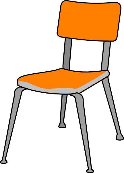Student Chair Clip Art At Clker Com Vector Clip Art Student In Desk Clipart
